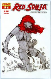 Red Sonja #2 RRP Variant Adam Hughes White Hot 1:300 Dynamite Entertainment